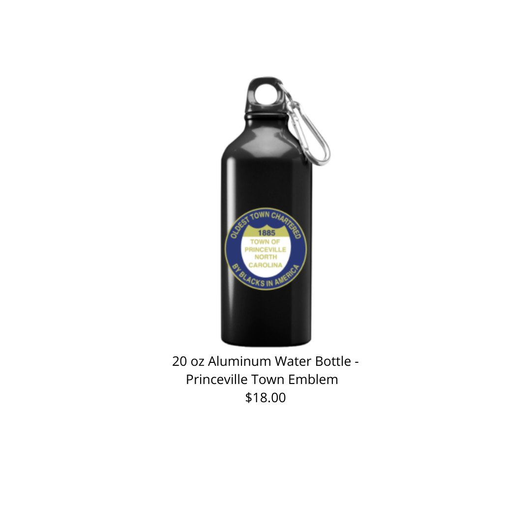 20 oz Black w/ Town Emblem Aluminum Water Bottle