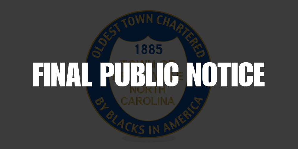 Princeville Senior Center Final Public Notice